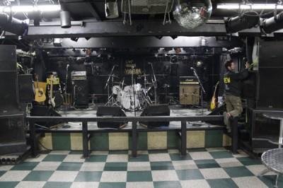 ステージ左右にエアーマイク
